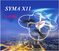 Wholesale SYMA X11 GHz RC Drones with HD Camera Aixs of Gyro Quadcopter RC helicopter Drone Kids rc toys