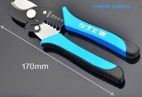 Wholesale 7inches Multi functional household electrical wire stripping pliers cable clamp