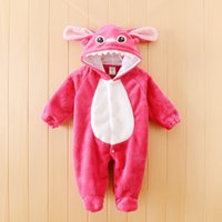 qq-duck Unisex Summer Cute Animal Baby Rompers Boy Girl Rose Tigers Cartoon Jumpsuit Pajamas Warm Autumn Winter Children Coral fleece Stitch Clothing