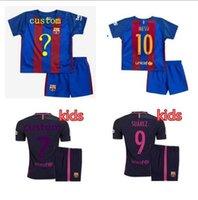 barcelona tee shirt - Top thai quality adult Barcelona Kids T shirt Quarter adults tees