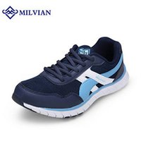 Wholesale milvian outdoor sport the new running shoes men hard wearing one colors breathability jogging couple shoes drop shipping