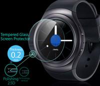 Vente en gros Top-qualité Ultra Thin 0.2mm 9H-déflagrant écran en verre trempé Film de protection pour Samsung Gear S2 / S2 classique montre Smart Watch
