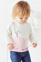 baby pink dolphins - NEXT YUYUTOTO same paragraph female baby wild pink dolphins hedging knit sweater girls