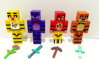 Wholesale Five Nights At Freddy s Building Block Christmas Gifts FNAF Action Figure Dolls