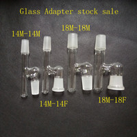 Wholesale Glass Oil Reclaimer Adapter mm or mm joint size Male to Male or Female Glass Adapter multiple size For Glass Bongs water pipe