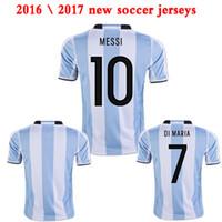 argentina football shorts - Argentina Home jerseys camiseta de futbol DI MARIA HIGUAIN MESSI Kun Aguero football shirts
