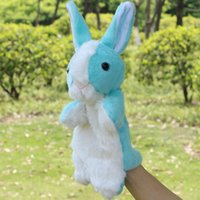 Wholesale 2016 New Arrival Super cute baby plush toy animal hand puppet white rabbit