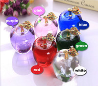 Wholesale K9 crystal apple Christmas Eve presents A birthday present A wedding gift Indoor decoration furnishing articles