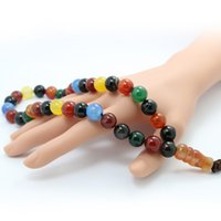 Wholesale The new Muslim prayer beads color colorful agate bracelet undertakes to support
