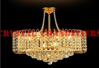 Wholesale Dia H500mm Modern K9 Crystal Chandelier Pendant Droplight Lamp Lighting For Restaurant Living Room Bedroom Silver Golden