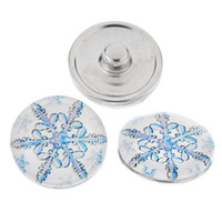 aluminium snap hooks - 50 aluminium with glass snow design mm noosa chunk snap buttons good for your DIY jewelry