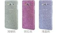 Wholesale For Samsung Galaxy S7 Edge Plus A710 A510 A9 J5 A7 A5 Sparkle Bling Diamond Shiny Glitter Rainbow Full Body Sticker Cover Front Back SKIN