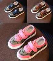 Wholesale 26 yards Plaid Monogram canvas shoes kid fashion wear bottom autumn girl student running shoes drop shipping LY