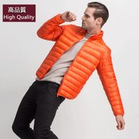 Wholesale AML85 New Arrivals Men s ULTRA LIGHT DOWN Coat Men s Stand Collar Winter Outwear Down Coat Real Real Duck Down Coat