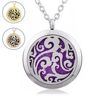 Wholesale No chain l stainless steel mm magnetic locket essential oil diffuser necklace perfume locket pendant