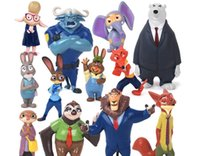 Wholesale Prettybaby set Zootopia Action Figures Toys cm Cartoon PVC Mini Models fox Nick Bunny Judy Flash Doll Toy Kids Gift Shipped by DHL