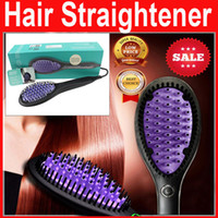electric comb - hot DHL DAFNI logo Hair Straightener Brush Comb Straightening Irons Electric flat iron Straight Styling Tool Hair Curler