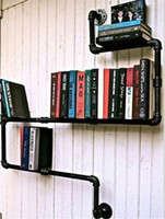 Wholesale American Country to do the Old Iron Pipes Industrial Pipes Bookcase Shelf Bookcase Shelves Iron Z16