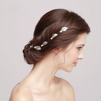 Wholesale 2016 New Vintage Wedding Headpieces Hair Accessories Silver Leaf Hairpins Women Hair Jewelry Bridal Jewelry HP0008