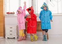 Wholesale LJJM233 Kids Strawberry Rain Coat children Frog Rabbit Duck Cartoon Raincoat Car Rainwear Rainsuit Kids Waterproof Animal Raincoat