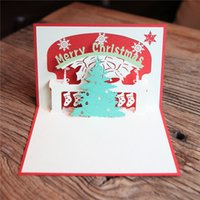 best holiday cards - Best Wishes D Handmade Paper Postcard invitation Cards Christmas Holiday Greeting Cards Merry Christmas Card