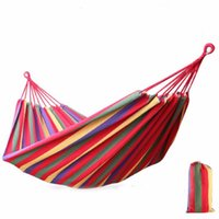 Wholesale 240 cm Person Hammock hamac outdoor Leisure bed hanging bed double sleeping canvas swing hammock camping hunting Color