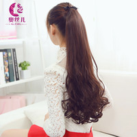 bandages clip - Long Curly Wavy Ponytail Synthetic Hair Clip in Hair Extension Hairpiece Bandage ponytails Natural Hair Women s Ponytail