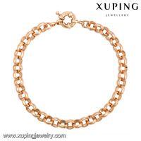 Wholesale Sailor Bracelets Wholesale - Women Rose Gold Color Copper Bracelets Sailor Clasps Link Chain Wholesale European Style Jewelry Bracelets From Xuping