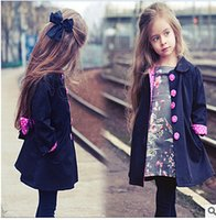 Wholesale High end new girls long sleeved cardigan dust coat