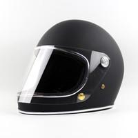 Venta al por mayor Japón TTCO Thompson motocicleta casco de plena carreras Racing Moto casco con visera clara Vintage Chopper Rider Retro Ghost Helmets