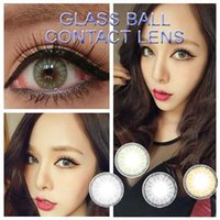 Wholesale classic popular GLASS BALL color cosmetic contact lenses low MOQ from pair