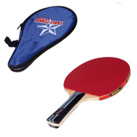 Wholesale Long Handle Shake hand Table Tennis Racket Ping Pong Paddle with Waterproof Bag Pouch Blue Indoor Table Tennis Accessory
