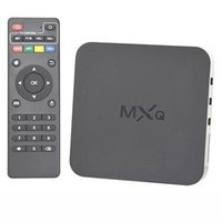 Wholesale 10PCS Original MXQ TV Box Amlogic S805 Quad Core Cortex A5 Mali Quad Core H H KODI Pre installed MX MXQ Android TV BOX