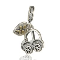 baby charms or pendants - GW Baby Car Charms dangles made from sterling silver fit pandora style bracelets or necklace for women pendant No70 lw S296