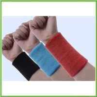Wholesale custom unisex cotton sweat band sweatband wristband wrist sport tennis sweatband wrist Sweat Band With Embroidery Logo