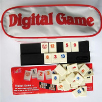 Wholesale Travel Package Classic Board Game Digital Game Israel Mahjong Rummikub The Fast Moving Rummy Tile Game