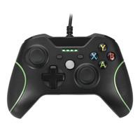 Vibración del mando aerodinámico dual para Xbox Uno con 4 indicadores LED y audio jack de 3,5