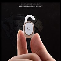 Wholesale NEW Bluetooth Earphone Mini Headsets Stereo Invisible Headphones Wireless Handfree Smallest Earbuds with Mic For iPhone Xiaomi