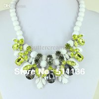 acrylic lacquer clear - 2015 New Design White Paint and Clear Acrylic Bead Lacquer Statement Necklaces KK SC220