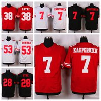 Wholesale Red Colin Kaepernick Elite Jerseys Top Quality ers Athletic Outdoor Mens Apparel Sports Shirts Cheap Jerseys Stitched Name and Number