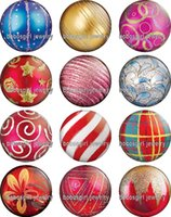 balls making music - Christmas balls glass Snap button Jewelry Charm Popper for Snap Jewelry good quality Gl337 Jewelry making DIY