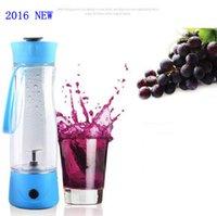 automatic citrus juicer - Arrive ml Portable Electric juice cup outdoor Creative automatic mini bottle juicer travel Blue green pink juice cup