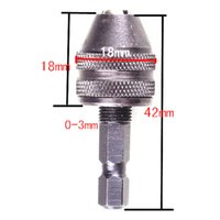 Wholesale Keyless Drill Chuck Screwdriver Impact Driver Adaptor quot Hex Shank Clamp mm H210449