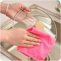 Wholesale 2PCS Magic White Bamboo Fiber Dish Towel Kitchen Towels Magic Dish Cloth Household