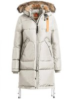 bear down jackets - Masterpiece LONG BEAR Women Jacket Beige Color Long Bear Outlet real fur trim around the hood Removable Fur Size XS XL