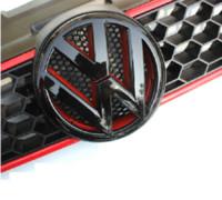 Wholesale Devil style gloss black red front grill badge emblem for VW volkswagen GOLF MK6 MKIV GTI TDI TSI FSI R20 DSG T