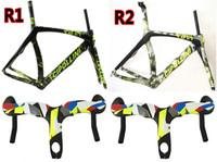 Wholesale RB1K Camoufalge carbon frames Handlebar RB1000 carbon road bike frames K T1100 RB1K road bike carbon frameset