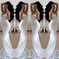 Trumpet/Mermaid awesome prom dresses - 2016 Elegant Awesome beautiful white trumpet prom dresses backless prom abendkleider sweetheart fitted white trumpet prom dresses