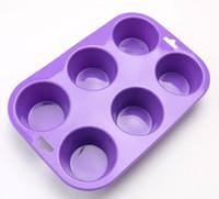 bake oven oem - Round shape cavity silicone muffin cupcake cake pans oven use bakery silicone baking molds OEM