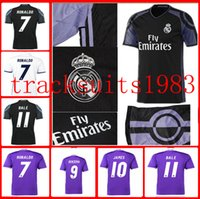 Wholesale second Away Home Real Madrid Jerseys Shirt Benzema James Bale Ronaldo Wholesalers Spanish league Sportswear rugby jersey